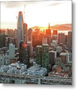 San Francisco Financial District Skyline Metal Print