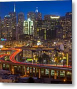San Francisco From Potrero Hill Metal Print by Inge Johnsson