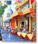 San Francisco North Beach Outdoor Dining Metal Print