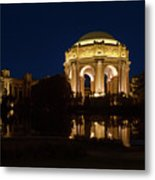 San Francisco Palace Of Fine Arts At Night Metal Print