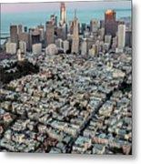 San Francisco Skyline And Coit Tower Metal Print