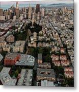 San Francisco Skyline And Coit Towersan Francisco Skyline And Coit Tower Metal Print