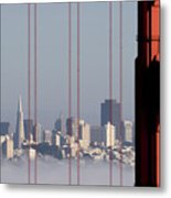 San Francisco Skyline From Golden Gate Bridge Metal Print by Mona T. Brooks