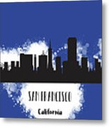 San Francisco Skyline Silhouette Metal Print