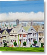 San Francisco's Painted Ladies Metal Print by Mike Robles