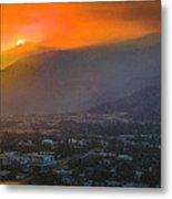 San Gabriel Complex Fire Metal Print