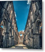 San Galgano Church Ruins In Siena - Tuscany - Italy Metal Print