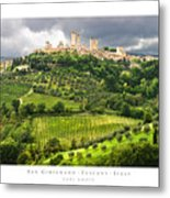 San Gimignano Tuscany Italy Metal Print by Carl Amoth