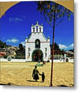 San Juan Chamula Church In Chiapas, Mexico Metal Print