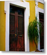 San Juan Doors Metal Print by Perry Webster