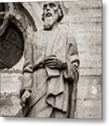 San Lucas Statue At The Manizales Cathedral Metal Print
