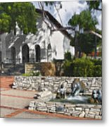 San Luis Mission Fountain Metal Print