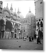 San Marco Piazza And Basilica In Venice Metal Print