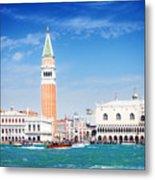 San Marco Square Waterfront Metal Print
