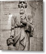 San Mateo Statue At The Manizales Cathedral Metal Print