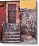 San Miguel Steps And Door Metal Print