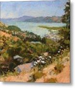 San Rafael Bay From Via La Cumbre, Greenbrae, Ca Metal Print