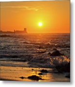 Sancti Petri Castle At Sunset San Fernando Cadiz Spain  Metal Print