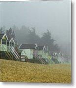 Sand And Huts And Fog Metal Print