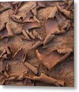 Sand And Mud Curls Metal Print