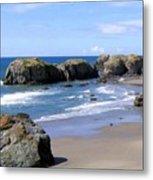 Sand And Sea 11 Metal Print