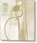 Sand And Stone 2- Contemporary Abstract Art By Linda Woods Metal Print