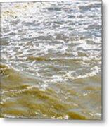 Sand Beach And Wave 4 Metal Print