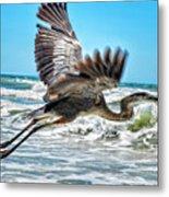 Sand Crane Metal Print