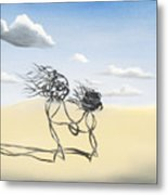 Sand Dance Mother And Child  Metal Print
