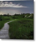 Sand Dune Board Walk Metal Print