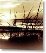 Sand Dunes Sunset Metal Print