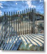 Sand Fence Metal Print