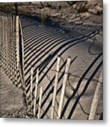 Sand Fence Metal Print by Joel P Black