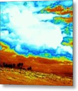 Sand In The Sky Metal Print