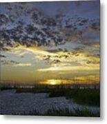 Sand N Sunset Metal Print