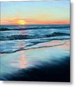 Sand Reflections Metal Print