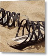 Sand Shoes I Metal Print