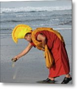 Sand To Sea Metal Print