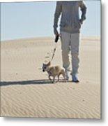 Sand Walk Metal Print