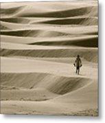 Sand Walker Metal Print