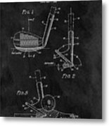 Sand Wedge Patent Metal Print