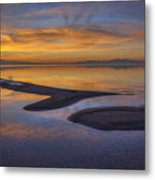 Sandbar Sunset Metal Print