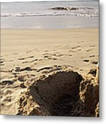 Sandcastle On The Beach, Hapuna Beach Metal Print