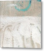 Sandcastles- Abstract Painting Metal Print