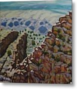 Looking Down From The Sandia Mountains Metal Print