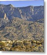 Sandia Mountain Panorama Metal Print