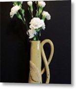 Sandi's Leaf Vase Metal Print