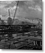 Sandpoint Marina And Byway Metal Print