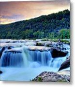 Sandstone Falls At Sunset In West Virginia   Hdr Metal Print
