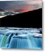 Sandstone Falls At Sunset In West Virginia Metal Print
